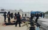 Поліція затримала 40 чоловік біля будівництва на Осокорках